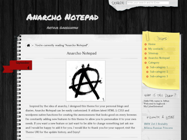 Anarcho Writers and Authors WordPress Theme