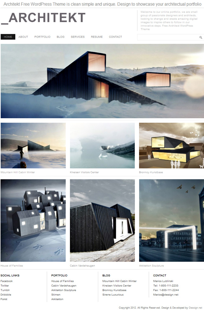 Interior and architecture wordpress themes for your stunning.