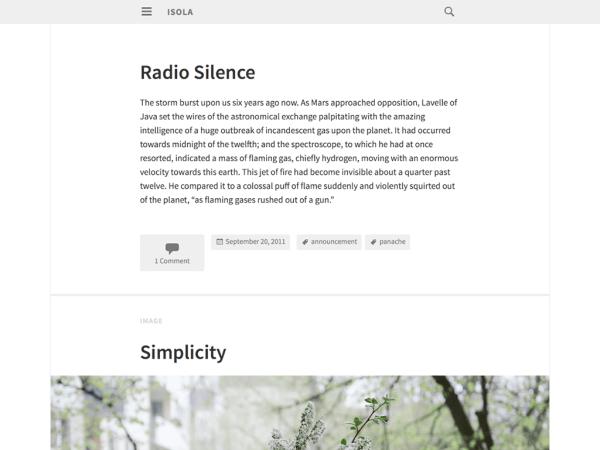 Isola Writers and Authors WordPress Theme