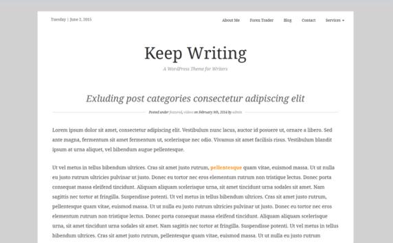 Keep Writing Writers and Authors WordPress Theme