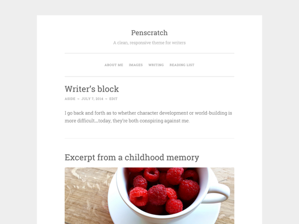 Penscratch Writers and Authors WordPress Theme