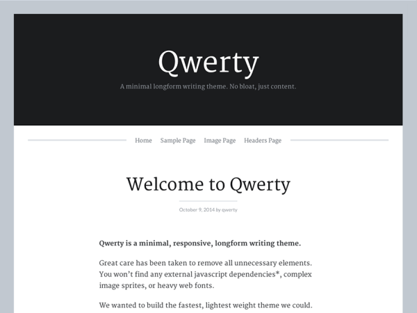 Qwerty Writers and Authors WordPress Theme